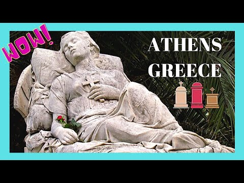 GREECE: The Beautiful MARBLE TEMPLES And STATUES Of FIRST CEMETERY (ATHENS) 🏛️