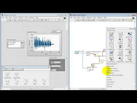 NI LabVIEW: Work with .wav audio files