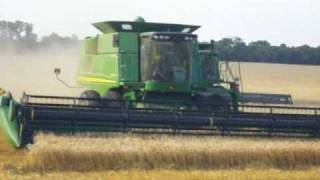 WORTHAN FARMS-Marshall, Oklahoma - WHEAT HARVEST 2010!!