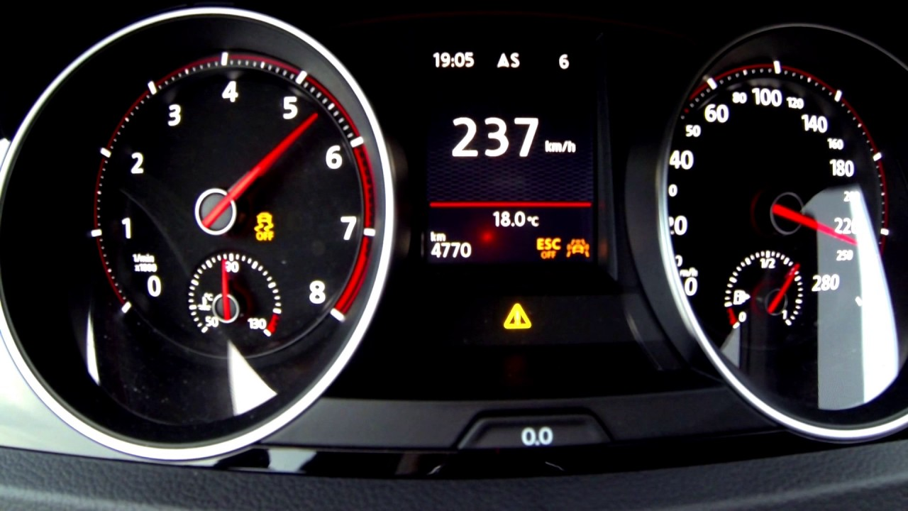 Golf GTI Clubsport 2017 - Acceleration top speed 0-259 km ...