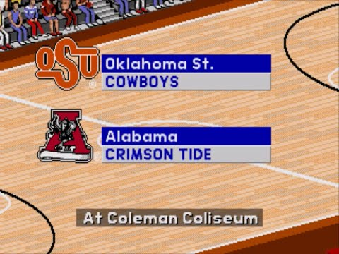 Coach K College Basketball | 1995 | 1st Round | Oklahoma State vs Alabama | SGCTS