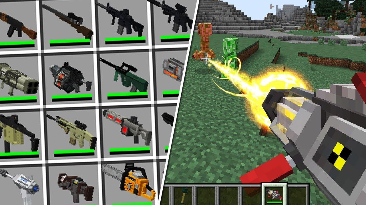 мод который добавляет кучу огнестрельного оружия для майнкрафт #8