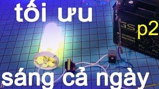 mạch kích đèn huỳnh quang compact tiết kiệm điện, dùng ắc quy 12v và bài hát nhạc vàng BtH
