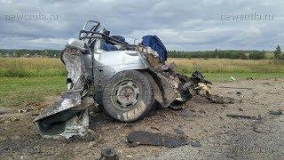 На трассе под Тулой самосвал разорвал ВАЗ-2114