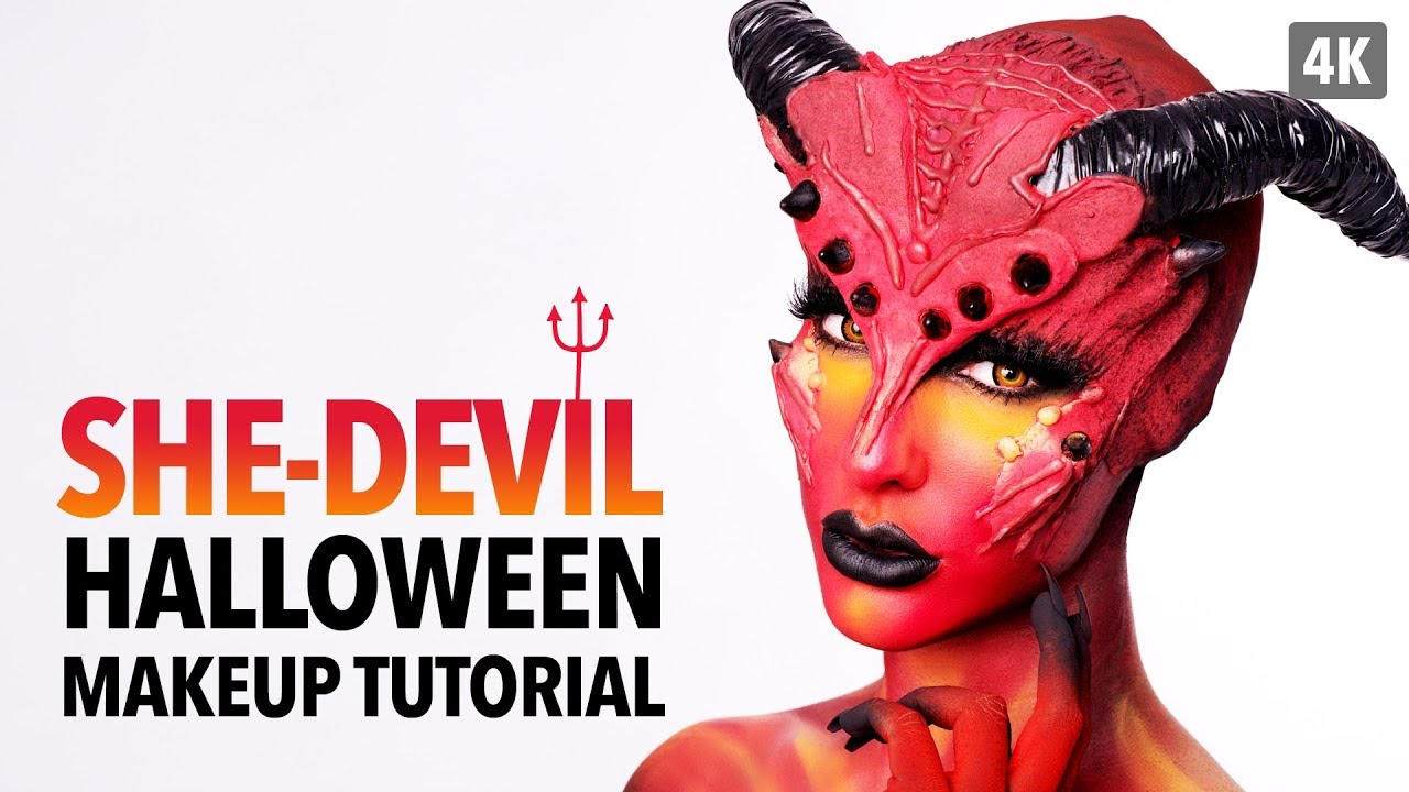 She devil halloween makeup tutorial youtube she devil halloween makeup tutorial solutioingenieria Image collections
