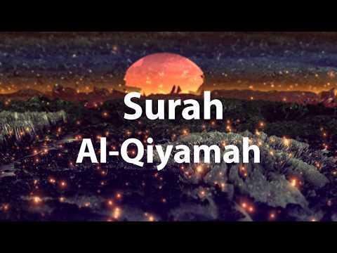 Surah Al Qiyamah Mishary al afasy Soul Touching English translation and Transliteration
