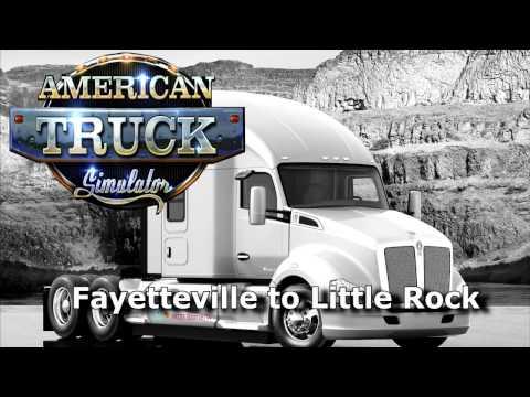 American Truck Simulator -  Fayetteville (North Carolina) to  Little Rock (Arkansas)