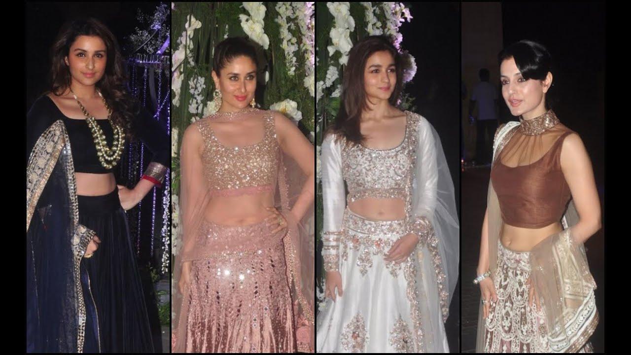 Bollywood Celebs At Manish Malhotra S Niece S Sangeet