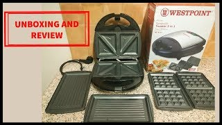 Westpoint 3 in 1 Sandwich Maker Unboxing & Review | Grill / Waffle Maker