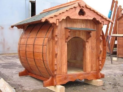 Dog house design ideas youtube for Barrel dog house designs