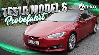 Tesla Model S 75D Probefahrt Test Deutsch   Tesla Model S Autopilot für Autonomes Fahren