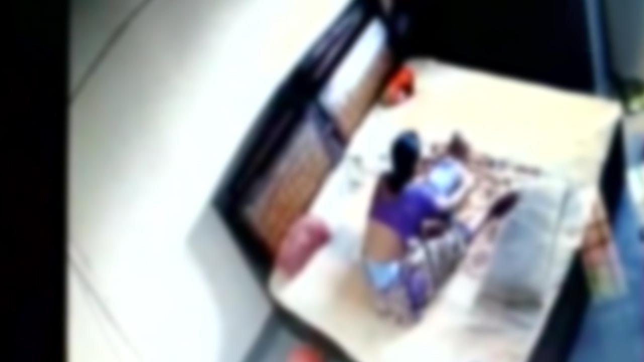 Woman caught on CCTV strangulating her infant son, Watch   Oneindia News