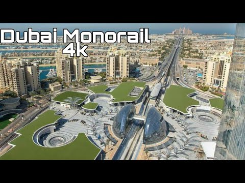 DUBAI MONORAIL PALM JUMEIRAH  4K | Dubai Tourist Attractions (Ems Rowlands Vlog #47)