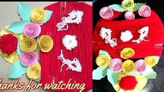 Diy Woll Wall Hanging : Paper Flower wall hanging with Woll// Woll best wall and Room Decor idea.