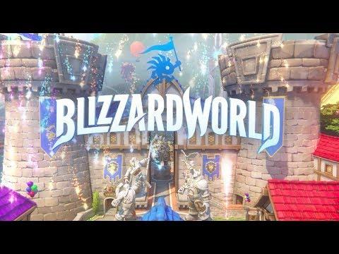 NEW MAP - BLIZZARD WORLD | Overwatch PTR Blizzard World Impressions