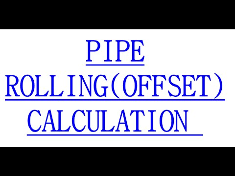 PIPE ROLLING(OFFSET) CALCULATION TO FITUP FIELD JOINTS