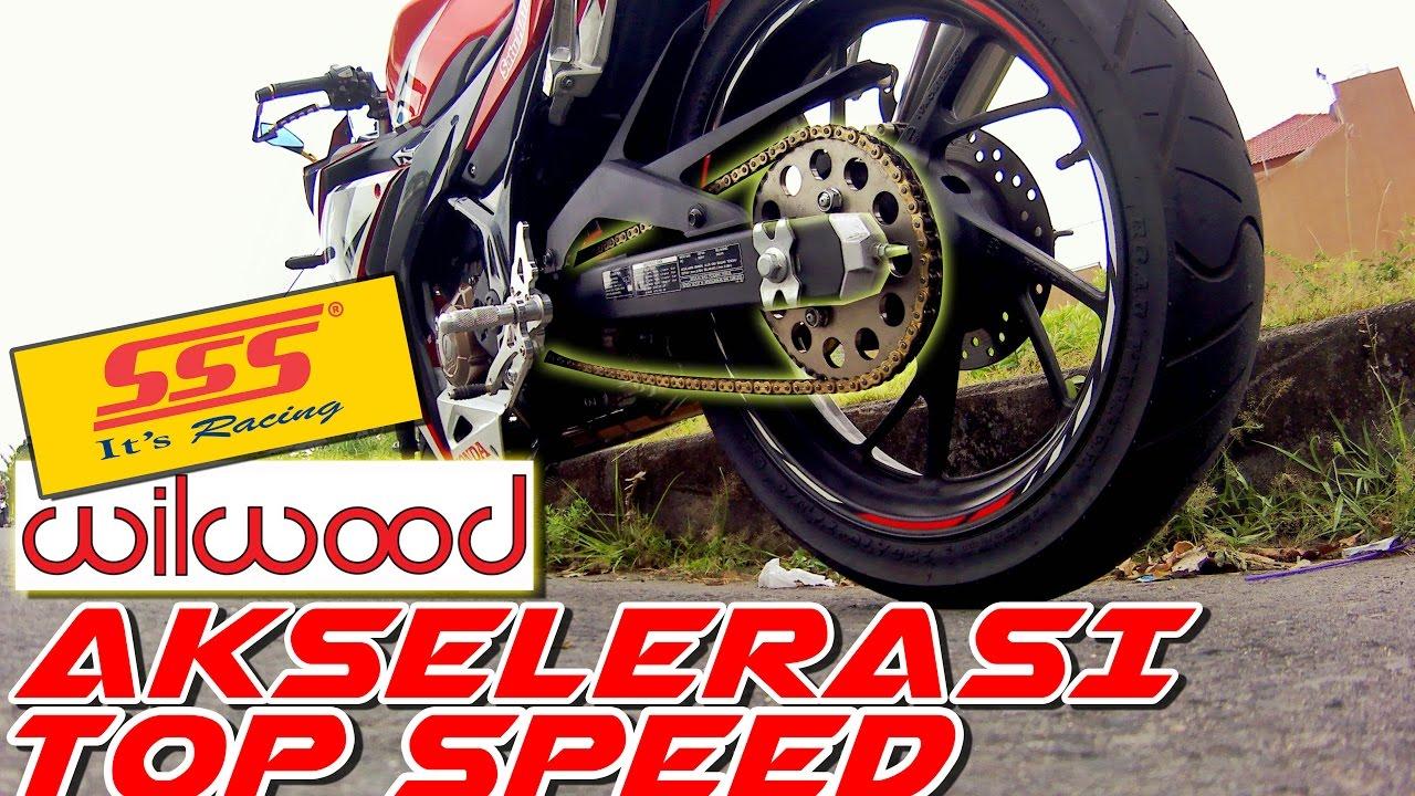 Penggantian Gear 15 48 Cbr150r Test Drag Top Speed Akselerasi
