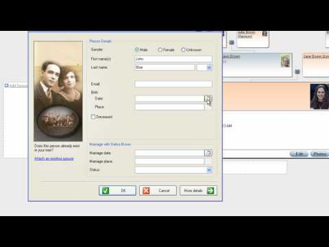 MyHeritage - FAQ - How to add family members to the tree in Family Tree Builder?