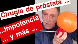 consecuencias de la operacion de prostata con laser