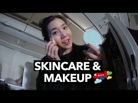 My In-Flight Skincare & Makeup Routine (Korea ✈️  Malaysia)