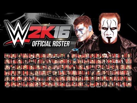 WWE 2K16 Official Roster - All 126 Superstars & Divas