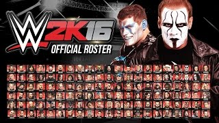 WWE 2K16 Official Roster - All 126 Superstars & Divas