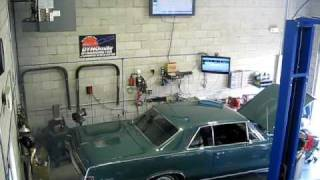 1965 GTO 389 TRI POWER 4SPD CHASSIS DYNO TEST 347 RWHP 361 FT/LBS SV ENGINEERING AND PERFORMANCE