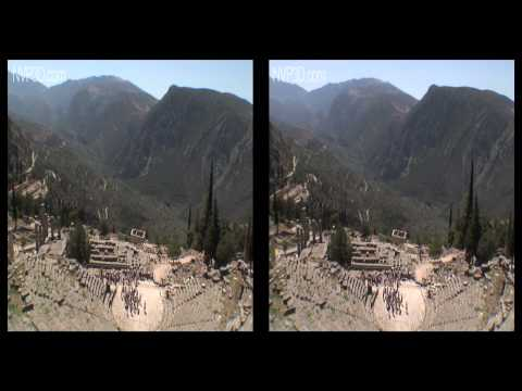 Delphi, antique Greece, in 3D stereoscopy