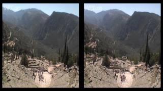 Delphi, antique Greece, in 3D stereoscopy