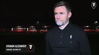 Salford City 3-2 Harrogate Town | Graham Alexander post match interview