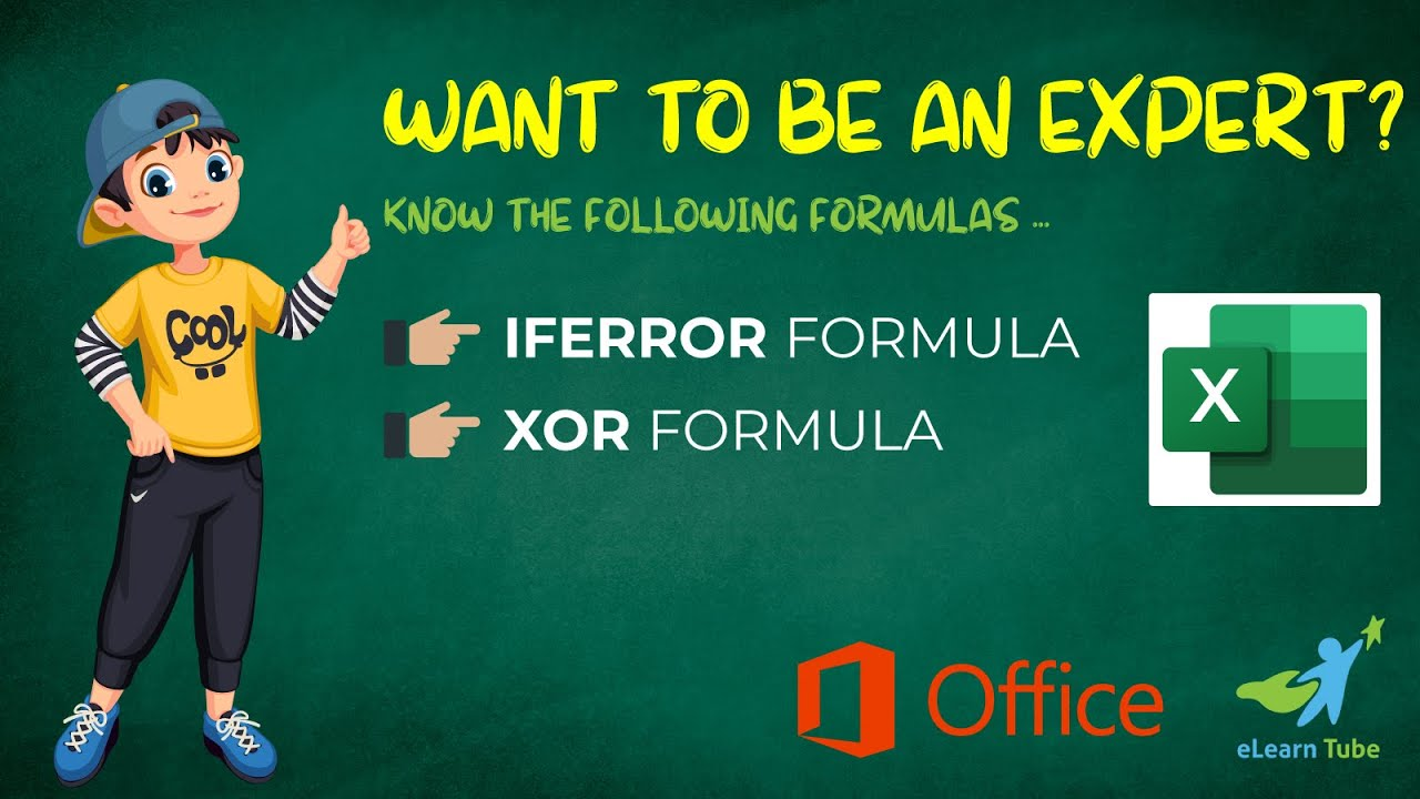 How to Use IFERROR and XOR Formula in Excel II Very Easy ...
