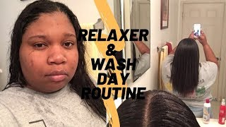 My Hair Care Routine| Relaxer & Wash day