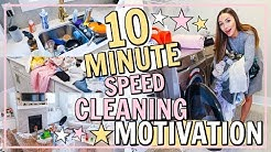 Cleaning Motivation FAST! 💁‍♀️10 MINUTE CLEAN WITH ME 🌟| Daily Cleaning Routine | Alexandra Beuter
