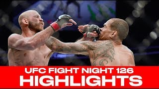 UFC Fight Night 126 Highlights - Cowboy Cerrone Rides To Knockout Victory Over Yancy Medeiros