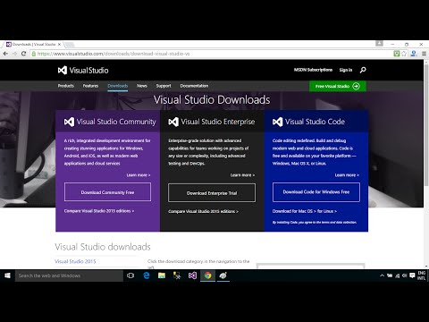 C# Tutorial : How to Download and Install Visual Studio 2015 Enterprise on Windows 10 | FoxLearn