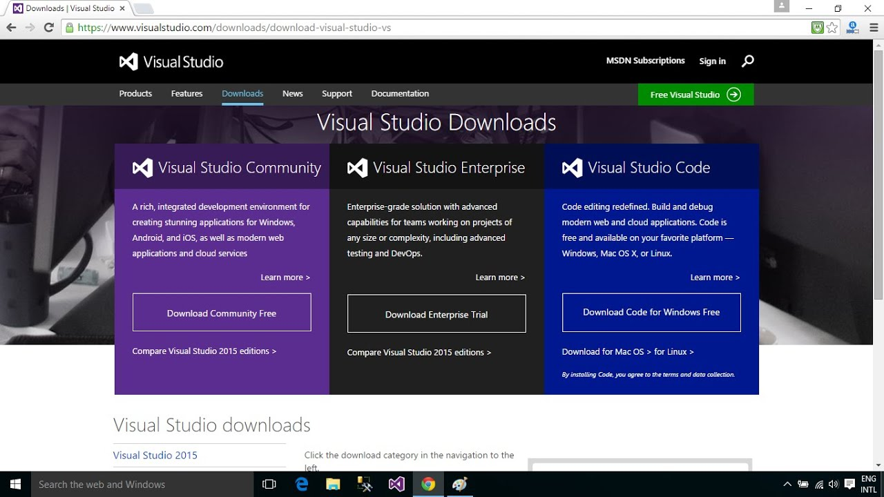 C# Tutorial : How to Download and Install Visual Studio 2015 Enterprise on Windows 10 | FoxLearn ...