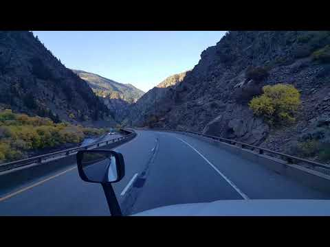BigRigTravels-Glenwood Canyon and Glenwood Springs, Colorado Interstate 70 West-Oct. 14, 2017
