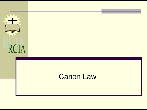 Canon Law   2018
