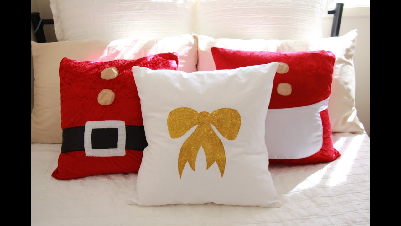 DIY GOLD GLITTER BOW CUSHION ⎜⎜ CREATIVE CHRISTMAS 2013