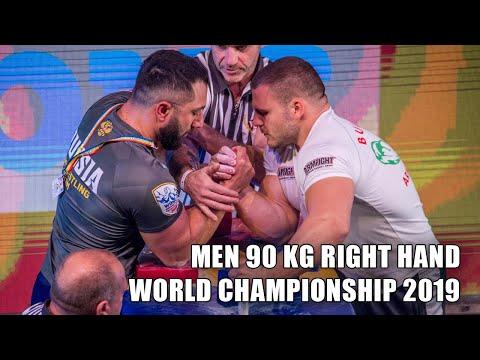 SENIOR MEN 90 KG RIGHT HAND FULL CLASS (World Armwrestling Championship 2019)