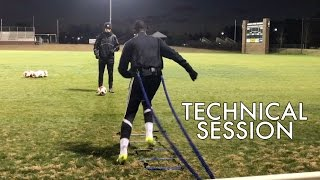 Training D1 Soccer Players - Speed, Technique, and Finishing - Individual Session