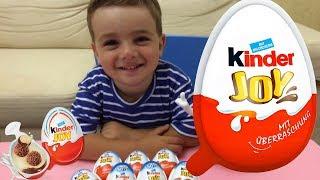 Киндер  Джой Сюрпризы для мальчиков  Kinder Joy Surprise Eggs for BoysUnboxing Videos for Kids