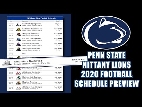 PENN STATE NITTANY LIONS 2020 FOOTBALL SCHEDULE PREVIEW