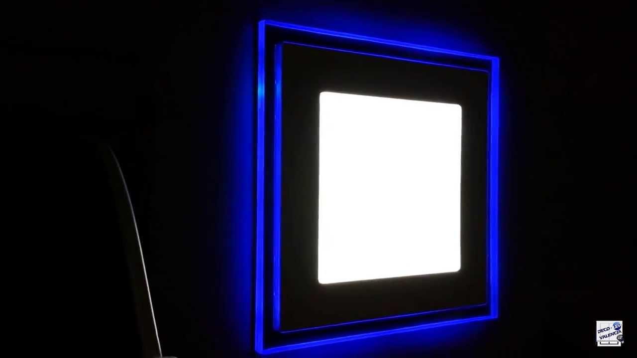 Downlight led contorno de colores youtube - Downlight led para cocina ...