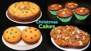 క్రిస్మస్ కేక్స్ | Christmas Cake Recipe in Telugu | Cake Without Oven