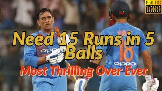 Need 15 Runs from 5 balls   Amazing Thrilling Over   Full HD Video   Last Over Thrilling Finish