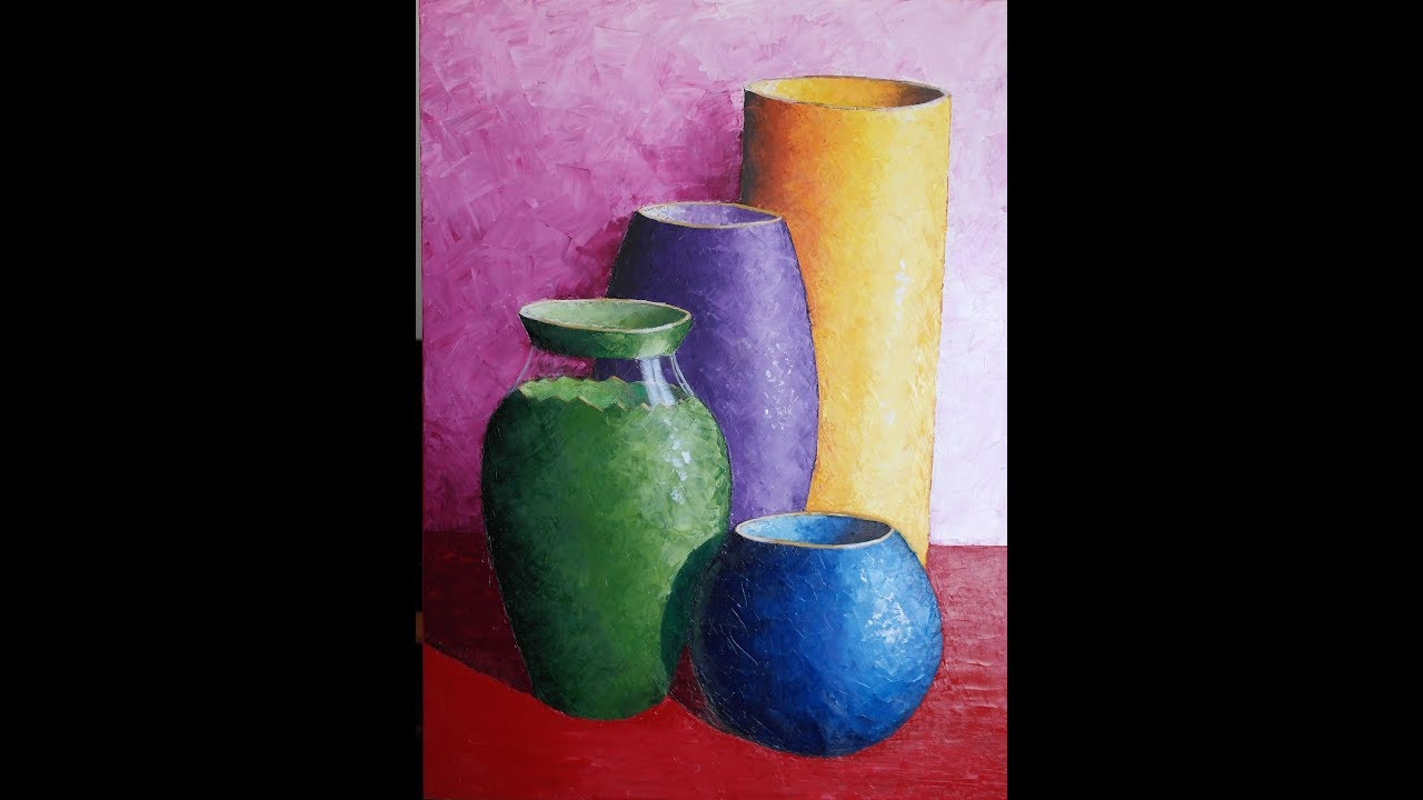 Pintando Vasijas Al Oleo Proceso Creativo
