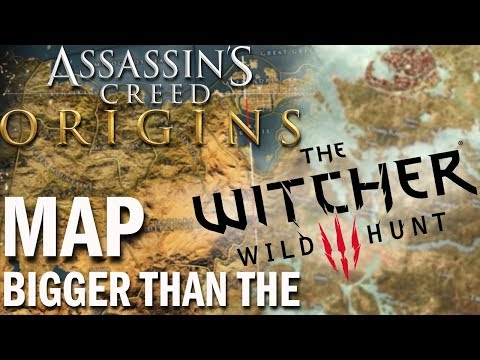 Assassin S Creed Origins Is Bigger Than The Witcher 3 Youtube