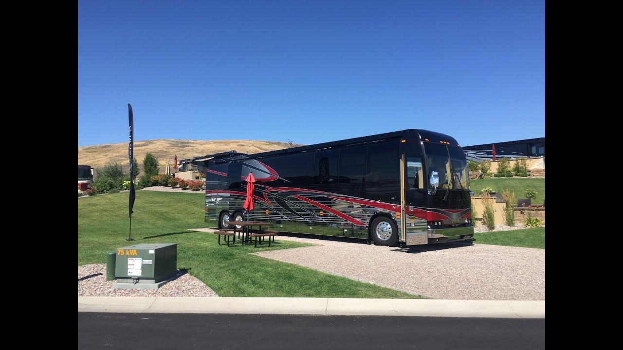 Luxury rv exterior - Emerald Luxury Coaches Tour 2016 Polson Motorcoach Rv Resort Transwest Truck Trailer Rv