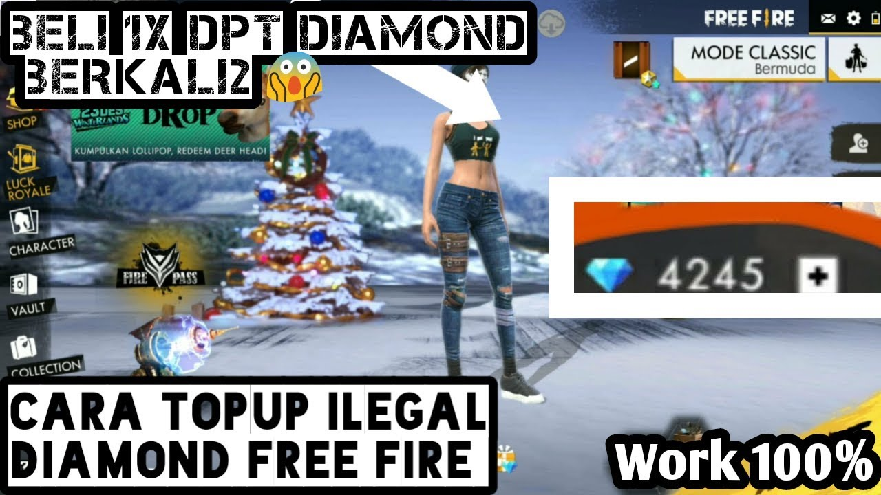 New Cara Topup Diamond Ilegal Free Fire Terbaru Youtube